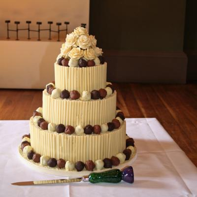 Chooclate Cigarillo Wedding Cake with Truffles