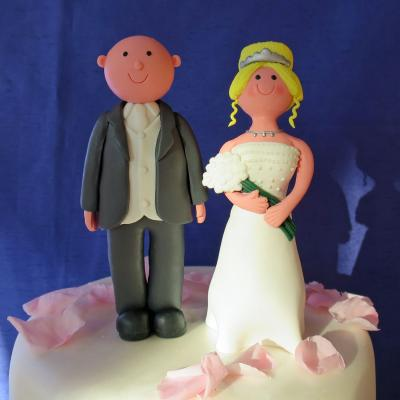 Bald Groom Wedding Cake Topper