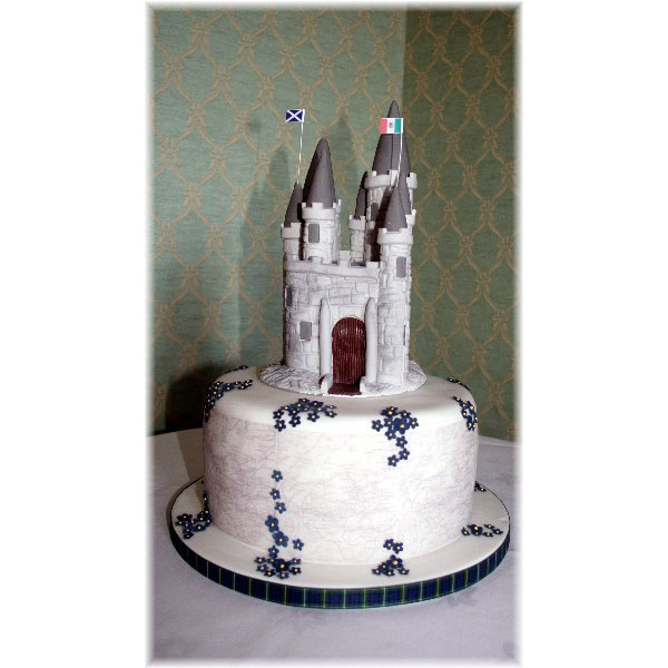 Castle Wedding Cake Design