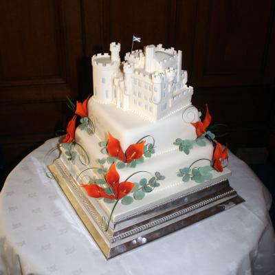Dalhousie Castle Wedding Cake