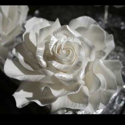 Handcrafted Lustre Finished Sugar Roses.
