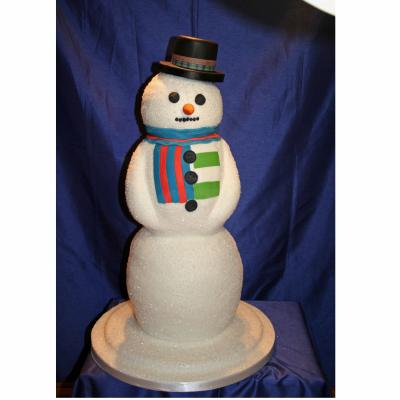 Frosty the Snowman Wedding Cake