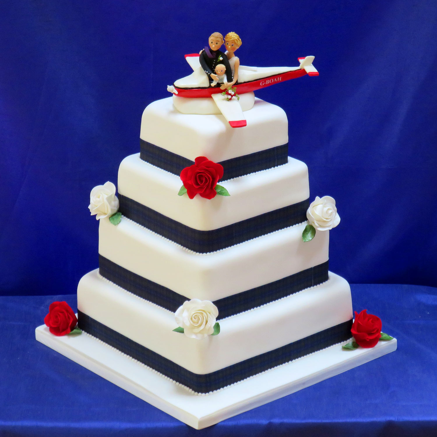Fly Me To The Moon Wedding Cake
