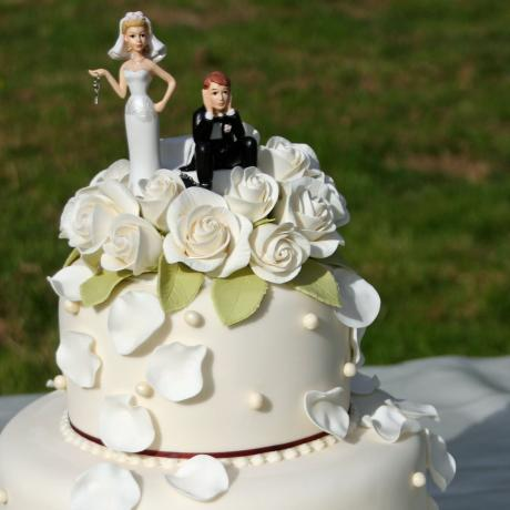 Ball and Chain Cake Topper