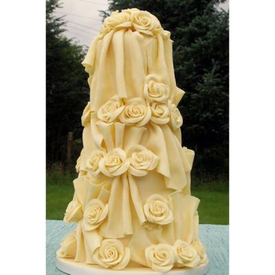 Chocolate Wedding Cake with White Chocolate Roses