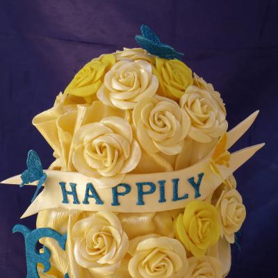 White and Yellow Chocolate Roses