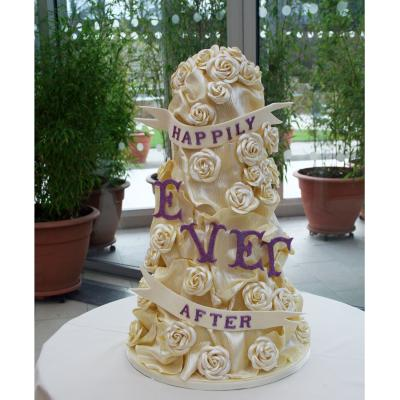 Happily Ever After Chocolate Wedding Cake