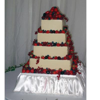 Mousse Wedding Cake on purpose built Cake Stand