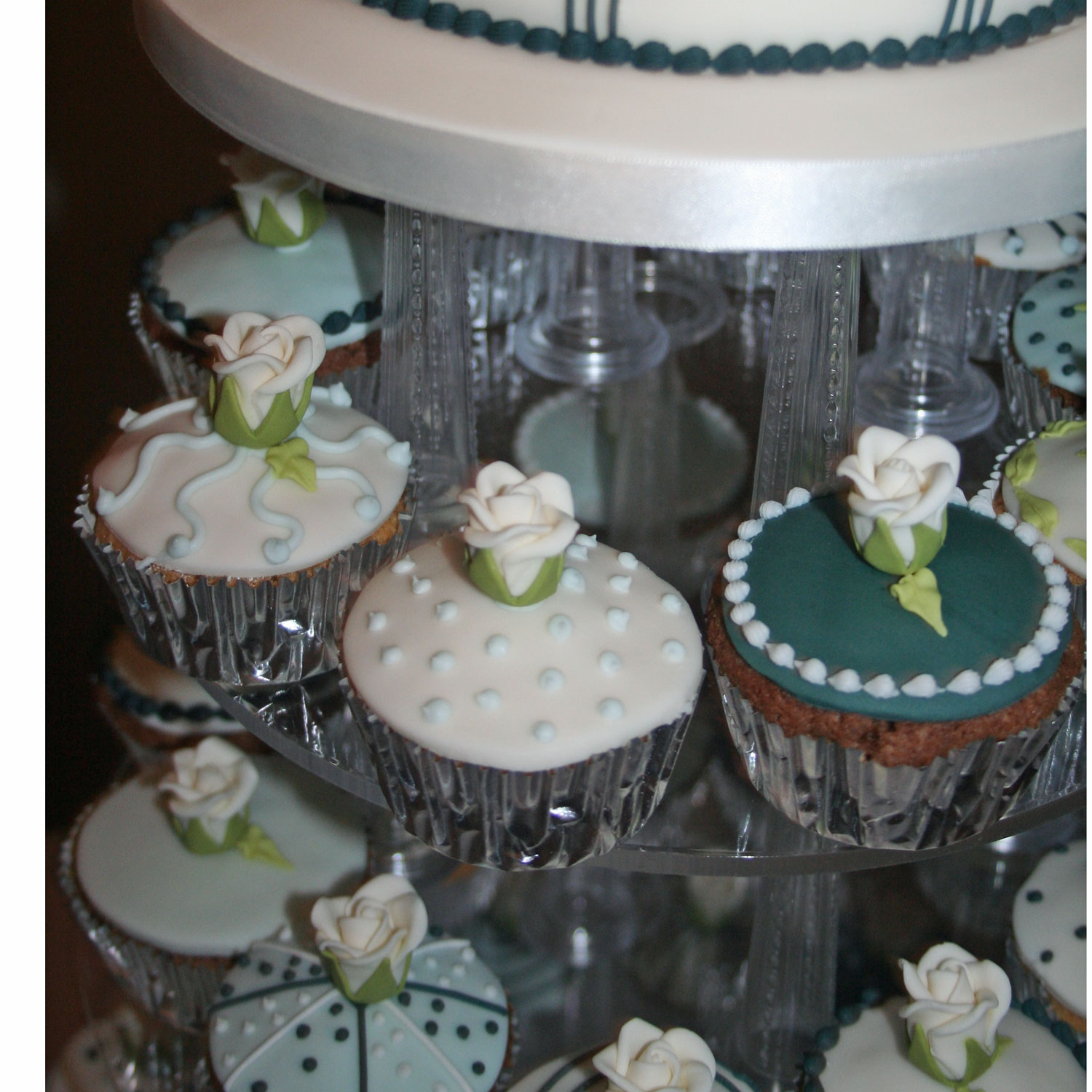 Wedding Cupcakes in Teal.