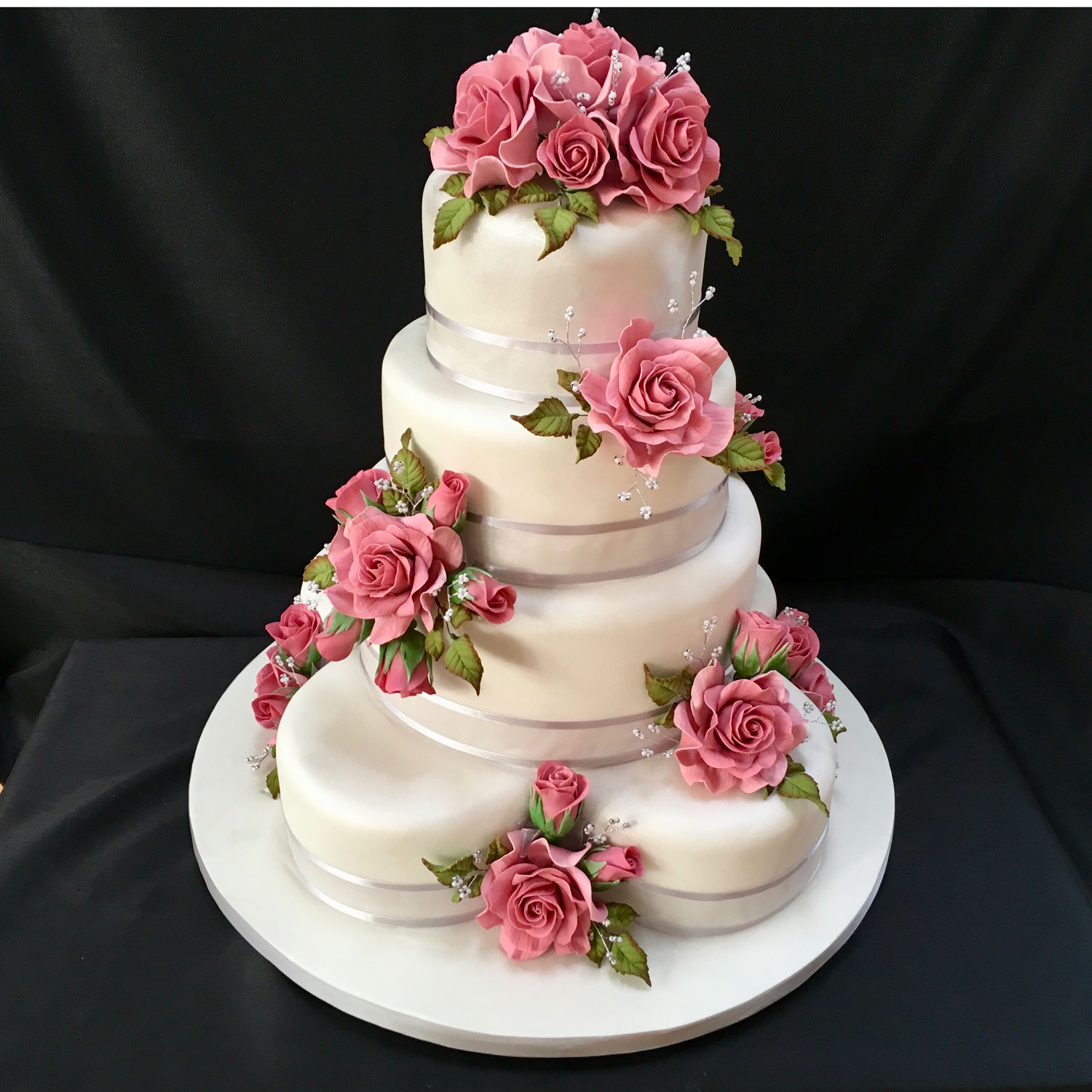 Fondant Flowers For Wedding Cakes: Floral Wedding Cakes Floral Wedding Cakes And Cakes With