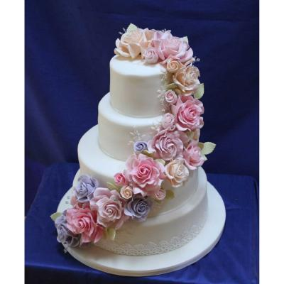 Joy Wedding Cake with Handcrafted Sugar Roses