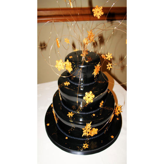 Midnight Stardust Wedding Cake