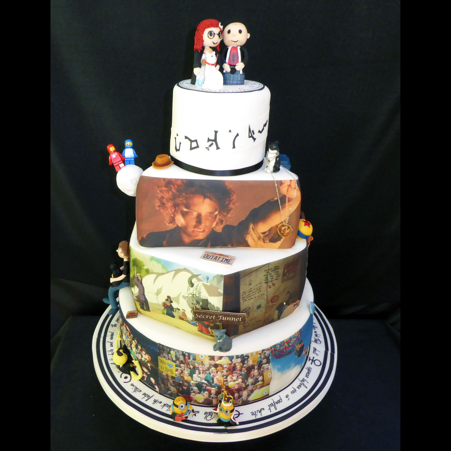 Animation and Movie Inspired Wedding Cake