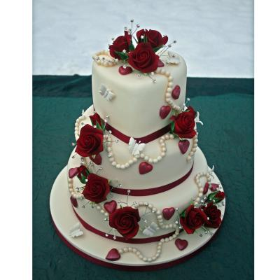 Valentine Love Heart Wedding Cake