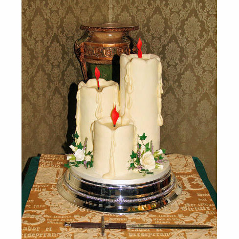 Candles Wedding Cake