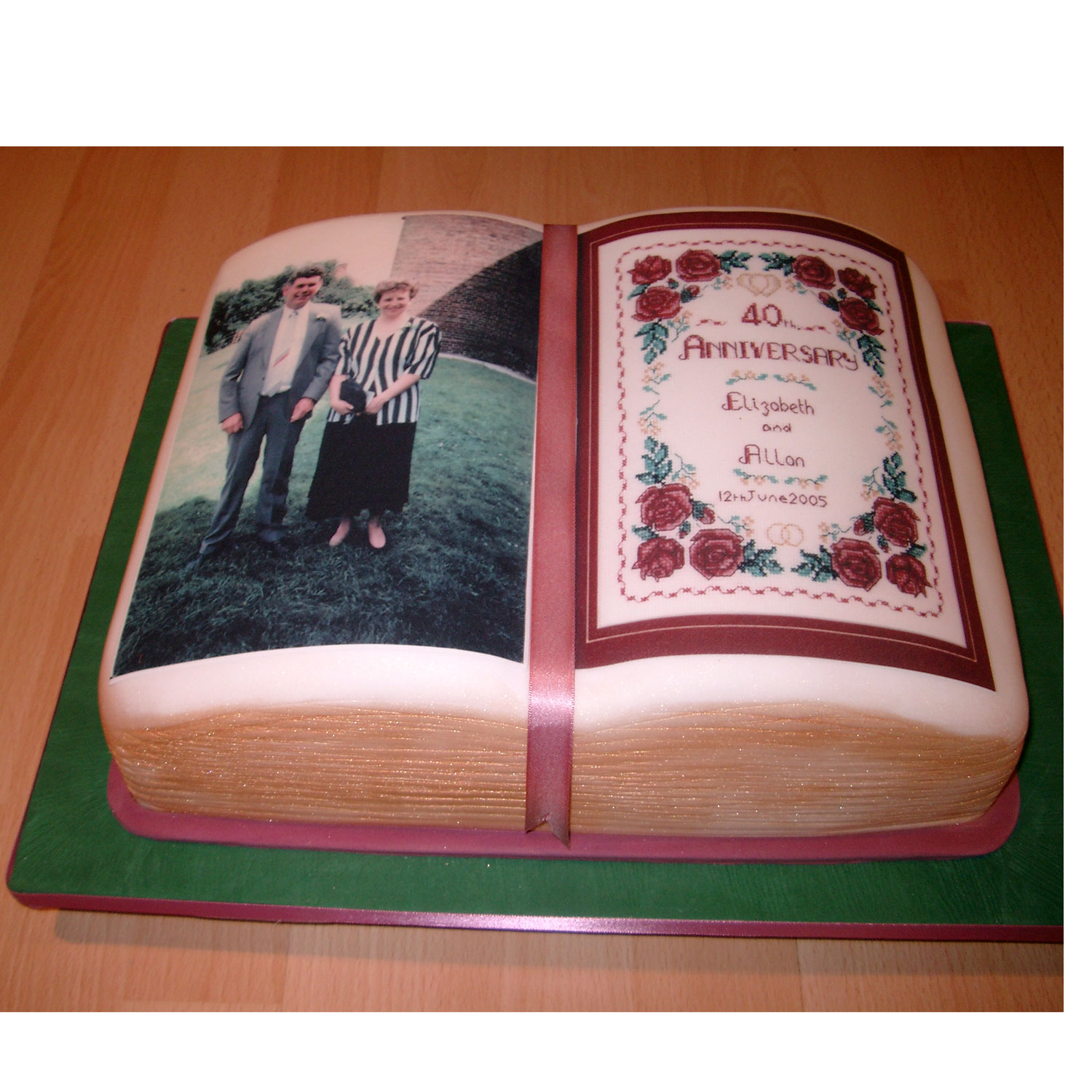 Book Shaped Cake with Edible Images