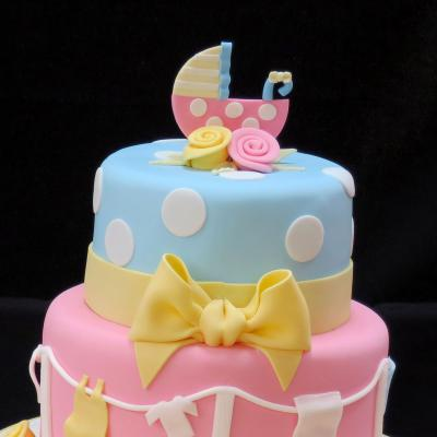 Baby Shower Cake in Pastel shades