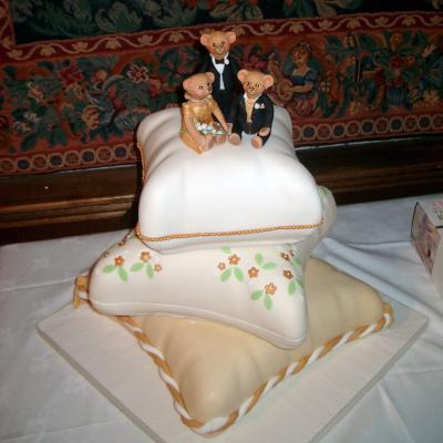 Bears on Cushions Wedding Cake