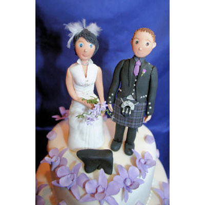 Sugarcraft Bride and Groom Wedding Cake Toppers