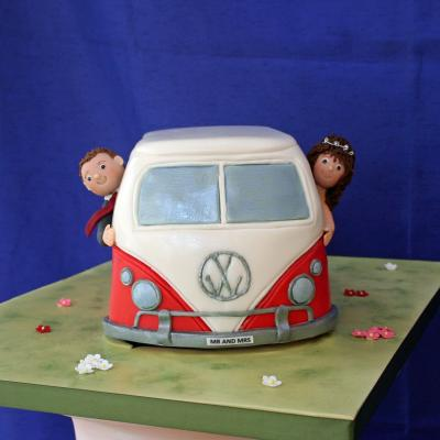 Camper Van Wedding Cake