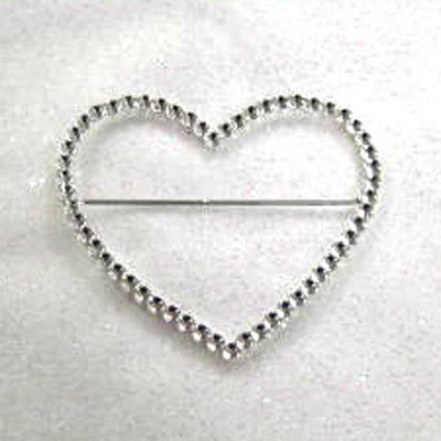 Heart Diamante Buckle