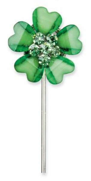 Green Diamante Favour Flowers