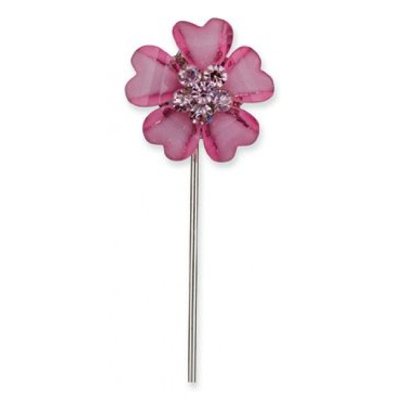 Pink Diamante Favour Flower