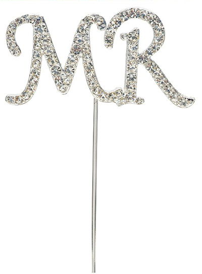 Mr Diamante Cake Topper
