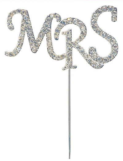 Mrs Diamante Cake Topper
