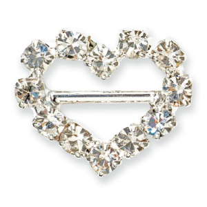 Mini Diamante Heart Buckle