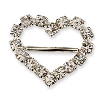 Small Diamante Heart Buckle
