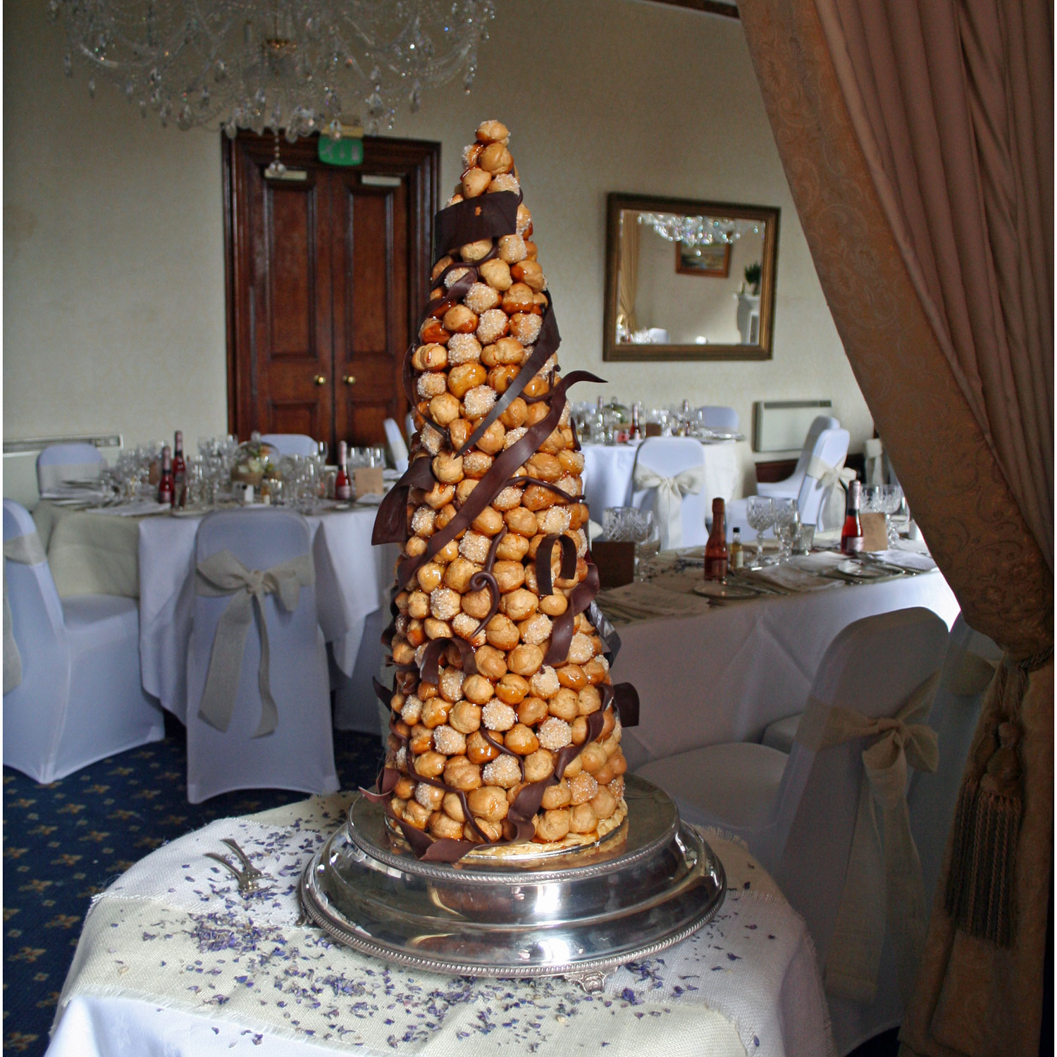 Croquembouche with Chocolate Decorations