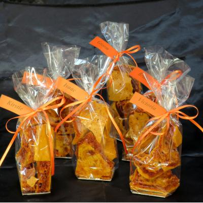 Cinder Toffee Wedding Favours.