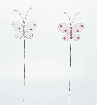 Clear Butterfly Cake Decoration