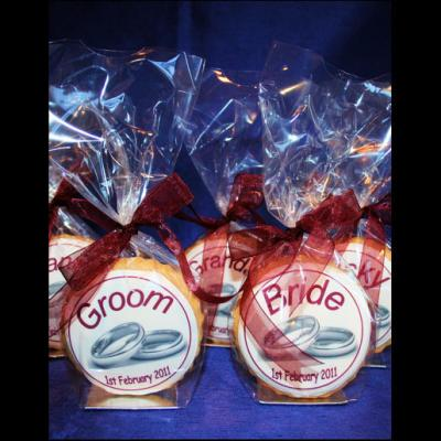 Wedding Ring Place Name Cookies