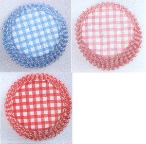Gingham Cup Cake Cases