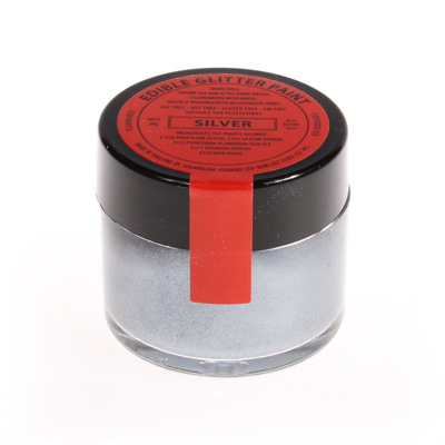 Silver Edible Glitter Paint