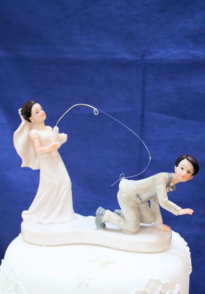 Fantastic Dark Haired Fishing Bride And Groom Fishing Bride And Groom Funny Birthday Cards Online Eattedamsfinfo