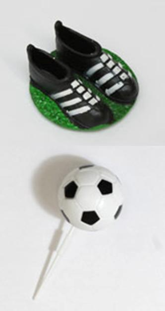 Football and Football Boot Cake Decorations