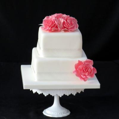 Two Tier Cake to serve up to 50 Wedding Guests