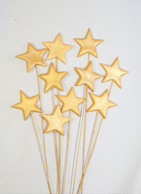 Gold Stars on Wires