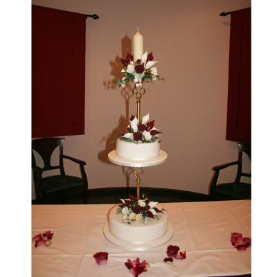 Two Tier Cake with Candle