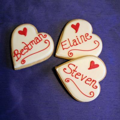 Heart Shaped Place Name Wedding Favours
