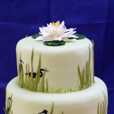 Sugarcraft Water Lily Cake Topper