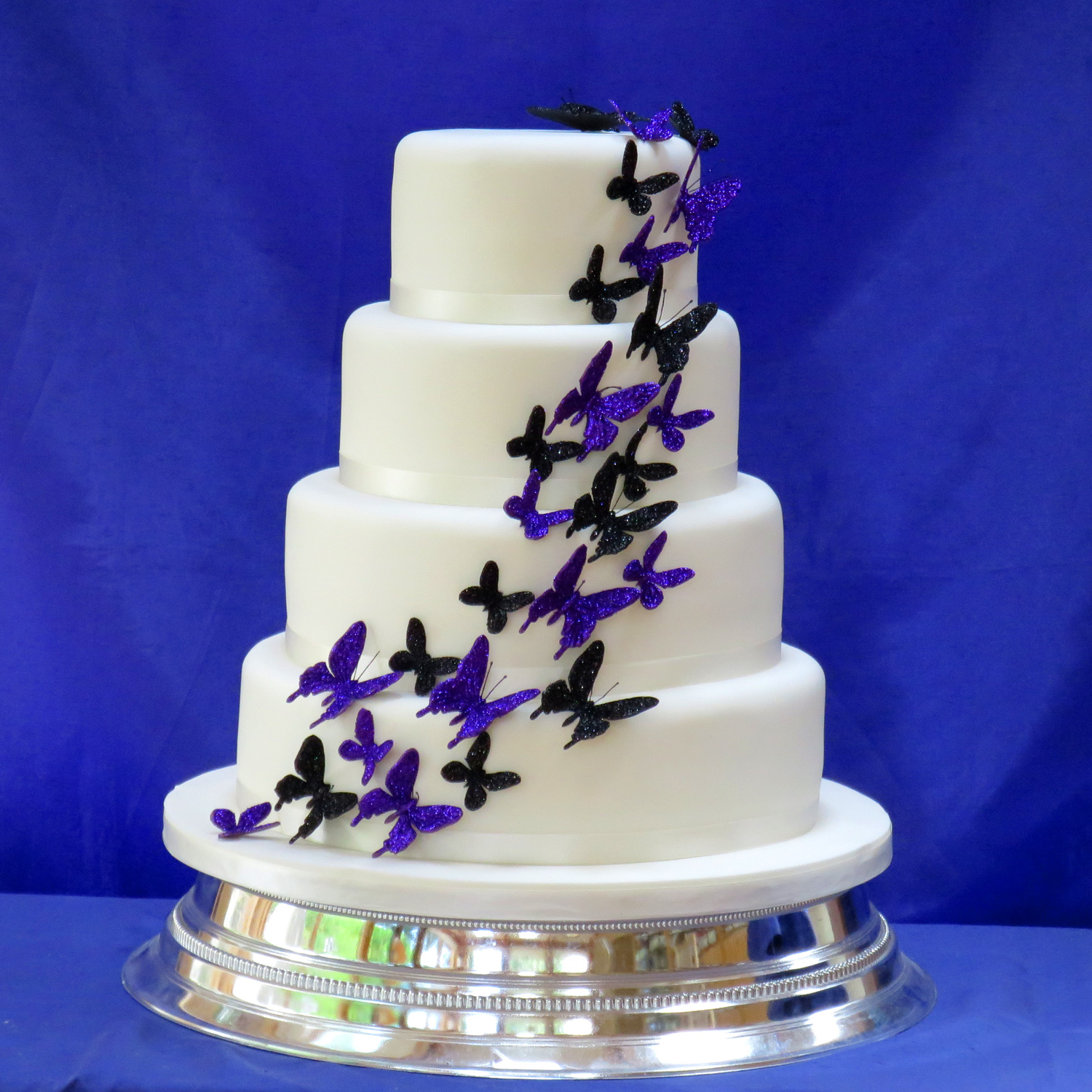 Butterfly Cascade down the front of the Wedding Cake.