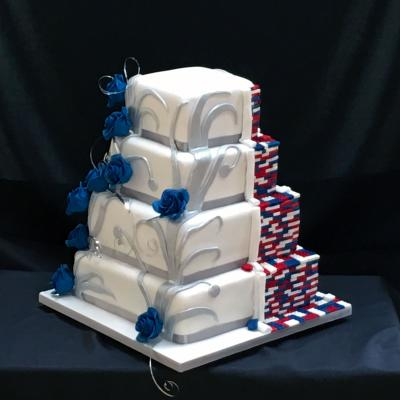 Lego Reveal Wedding Cake