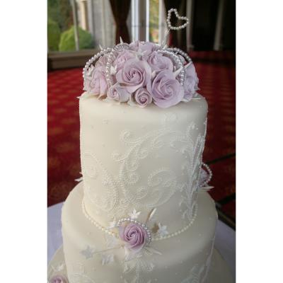 Lilac Sugarcraft Roses and Pearls
