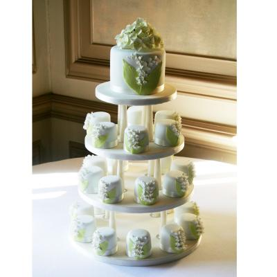 Miniature Lily-of-the-Valley Wedding Cakes