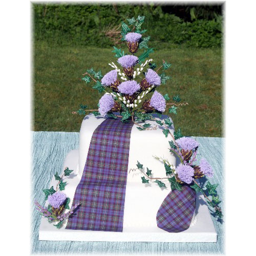 Wedding Cake with Edible Tartan