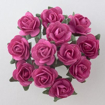 Fuchsia Roses for Wedding Favours